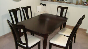 Solid Wood Dining Table with 06 Chairs
