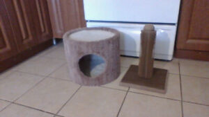 Cat Nap n Play + Scratch Post (Like New)  Both $20 !