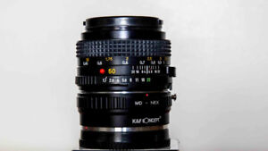 MINOLTA LENS with ADDAPTER FOR SONY E MOUNT CAMERA