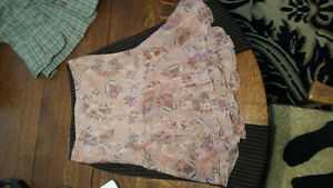 Pink floral skirt size small