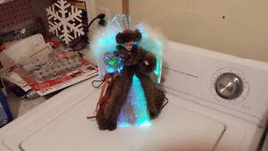 Light up Fiber Optic Christmas angel treetopper