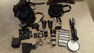 Canon 7d camera/lens and other items package