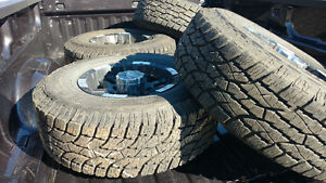 Very low km 8 lug rims and tires with warranty.