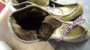 Seal skin mukluks , vintage very rare new condition