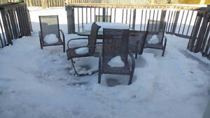 patio set - table and 6 chairs for sale