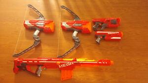 Lot of 5 Mega Nerf Guns Windsor Region Ontario image 1