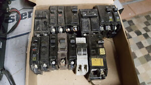 Assorted square D breakers