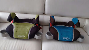 Graco booster seats-Blue & Green colours