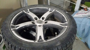 """17"""" MAGS AND PIRELLI RUN FLAT SNOW TIRES WITH TPMS"""