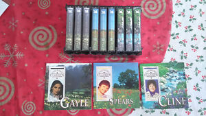 Country Music Cassette Tapes - Lot of 9 - Gale, Cline & Spears