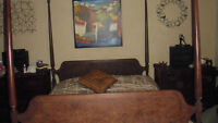 Antique mahogany 4 poster bed double or queen....