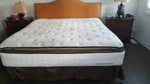 King size mattress set with headboard