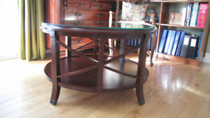 Fruitwood Coffe Table + Accent Tables