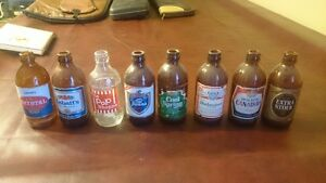Old beer bottle collection