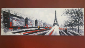 Eiffel Tower Painting & Pillow Case