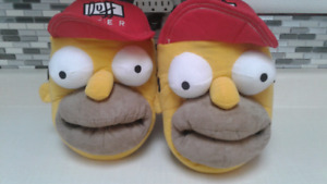 Homer Simpson Slippers. NEW W/O TAGS