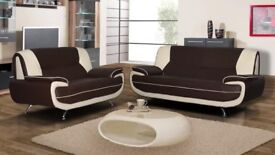 Stylish and Modern Carol 3 & 2 Seater sofa Available in 4 different colours -- Same Day Delivery --
