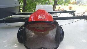 Casque de protection avec visière Max Sight, couleur vive rouge