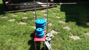 Bench press & weights