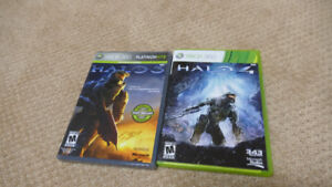 Halo 3 and 4 for Xbox 360.