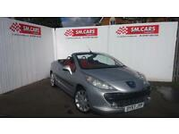 2007 57 PEUGEOT 207 CC 1.6 16V GT COUPE CABRIOLET,CONVERTIBLE.RED/BLACK LEATHER.