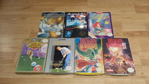 Six Original Nintendo Games for Sale Boxed GREAT FOR COLLECTORS!