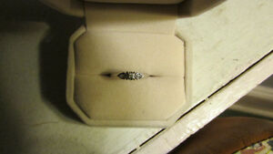10 Carat Gold Diamond Promise ring