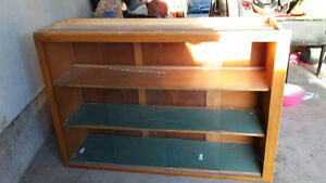 Overhead Cabinet With Glass Sliding Doors