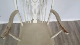 Retro rocking chair, antique shabby chic.