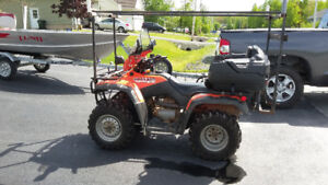 2003 Honda 350 fourtrax with boat rack
