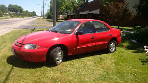 2003 Chevrolet Cavalier Sedan; Safetied and E-Tested