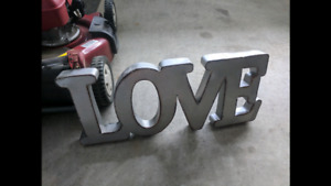 Metal LOVE sign for wedding