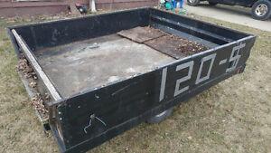78'' W x 8' long old trailer