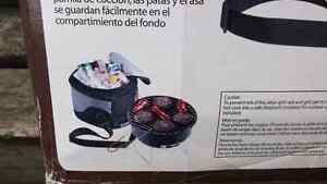 Portable Cooler and Charcoal Grill - New