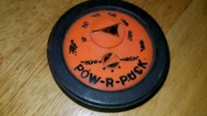 Late 1960s hockey puck pow -r -puck, very rare item