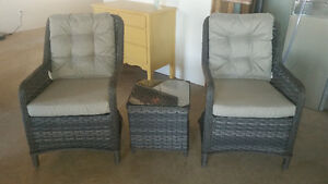 Beautiful Wicker Patio Chairs and Table