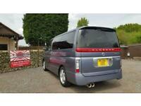 Nissan Elgrand 3.5 automatic 8 seater MPV day van corrosion free- grade 4