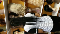 African  hair  stylist,  box braid, twists, weave, dreadlocks, e