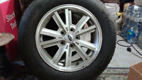 SNOW TIRES MOUNTED ON ALLOY RIMS