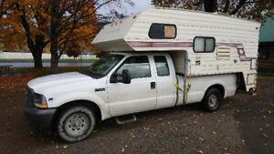 02 F250 Truck & 92 Slumberqueen Camper -good deal-