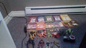 random toys and books