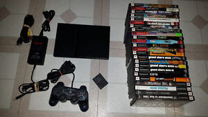 Playstation 2 Slim Console + over 20 games