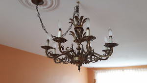 SUSPENDED CHANDELIER SOLID BRASS – COLLECTOR'S ITEM