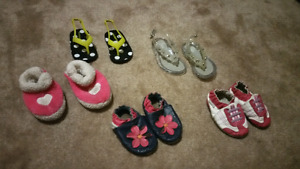 Size 4 baby girl shoes & slippers