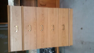Wood cabinet with 5 drawers