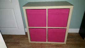 Ikea KALLAX / EXPEDIT 2x2 Cube Unit White Stained Oak