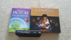 Christian Gospels Book, Children's Encylopedia and Vampire Novel London Ontario image 1