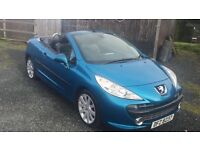 2007 Peugeot 207cc GT Model WITH WARRANTY. 207 cc Full Leather