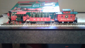 LIONEL HOLIDAY EXPRESS TRAIN SET  G SCALE