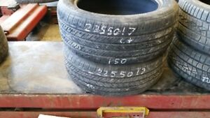 Pair of 2 Michelin Pilot MXM4 225/50R17 tires (65% tread life)